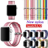 Hot selling strap for apple watch band nylon 42mm 38mm sport wrist braclet woven