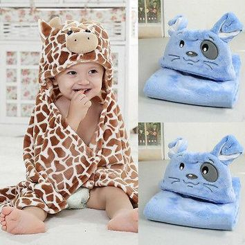 Baby Infant Newborn Bath Towel Washcloth Bathing Feeding Wipe Cloth Soft Blanket