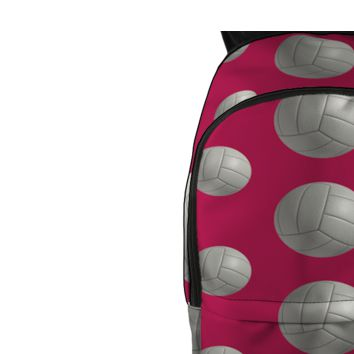 Volleyball Pink All Over Backpack Girls