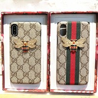 GUCCI Fashion Bee iPhone Phone Cover Case For iphone 6 6s 6plus 6s-plus 7 7plus iphoneX