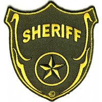 Iron on Sheriff Shield Patch
