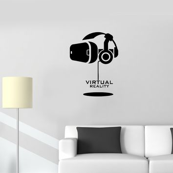 Wall Decal Helmet of Virtual Reality Game Movie VR Vinyl Sticker (ed1138)