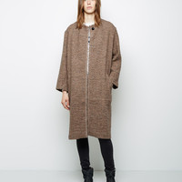 Easton Belted Collarless Coat by Isabel Marant