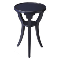 Butler Home Decor Round Accent Table Finish Type - Light Blue