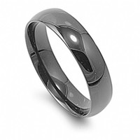 Cole's High Polish Stainless Steel 4mm Wedding Band