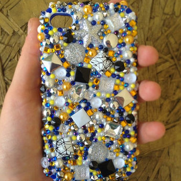 Maize and Blue Confetti Case for iPhone5