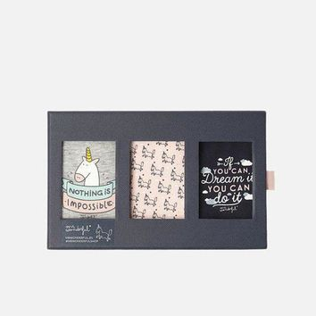 DCCKBA7 Oysho Unicorn series  Women's Cotton Triangle - Gift box packing