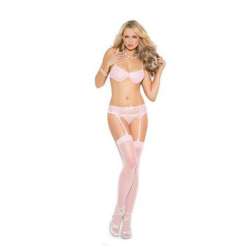 BRA, GARTER BELT AND G-STRING