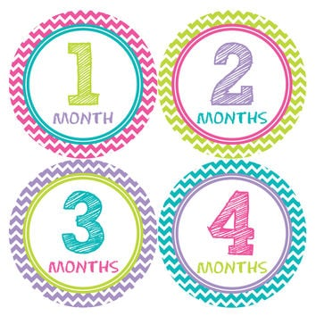 Baby Girl Monthly Baby Stickers Style #293