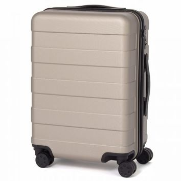 Adjustable Handle Hard Carry Suitcase 35L Beige