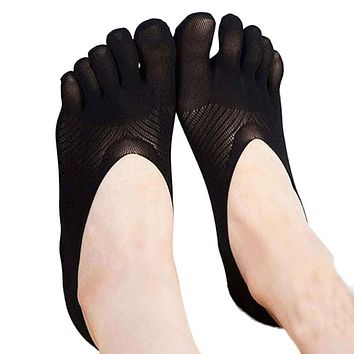 2017 1Pair Fashion Slippers Invisibility Five Toe Sock Pregnant Women Casual Solid Color Socks Five Finger Socks D30