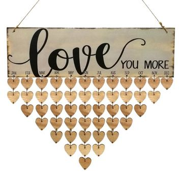Wood Birthday Reminder Board Sign House Decoration DIY Hanging Family & Friends 2018 Calendar Gifts Home Decor