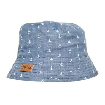 VONES0 Hugo Boss Baby Boys Denim Anchor Bucket Hat