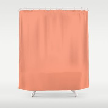 Monochrome collection Peach Shower Curtain by ArtGenerations
