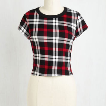 Vintage Inspired Short Length Short Sleeves Quick It Up a Notch Top