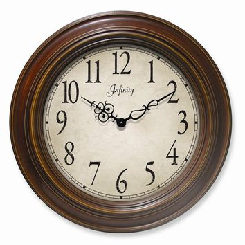 Atheneum Antique Walnut Finish Wall Clock
