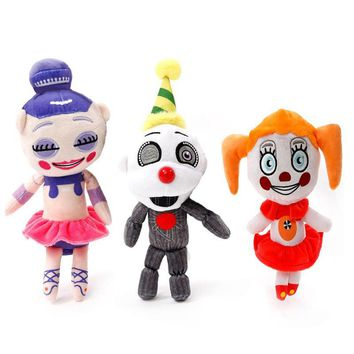 3pcs/lot 18CM  At Freddy Plush toy Kids Plush Stuffed Dolls