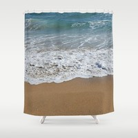 Beachy Shower Curtain by Lisa Argyropoulos