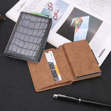Fashion Man Women Wallet Pocket ID Card Holder Mini Slim Wallet Automatic Pop up Credit Card Case Protector carteira