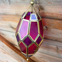 Moroccan Style Dome Glass Hanging Candle Lantern
