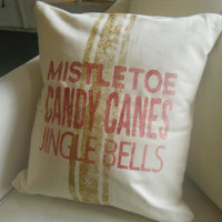 Christmas Holiday pillow slip