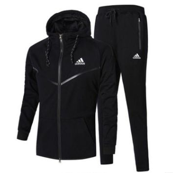 DCCKJN3 Unisex Adidas Casual Winter Men Jogging Sports Long Sleeve Jacket Sportswear Set [103847657484]