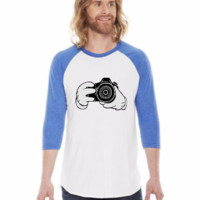 mickey hands with camera shot - 3/4 Sleeve Shirt