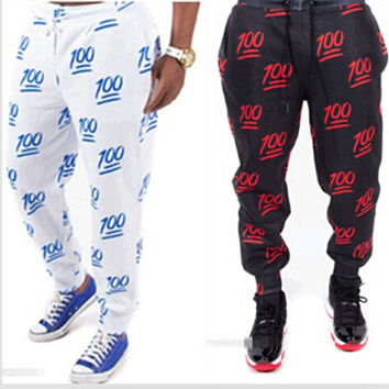 men/women sport print emoji joggers pants 2015 fashion spring winter women 100 emoji trouser loose Slim casual clothing LJ185LMX = 5617227521