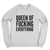 Q OF EVERYTHING Sweatshirt (IDB711933)-Heather Grey Sweatshirt