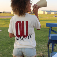 OU block comfort colors t-shirt-more colors