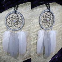Grey Dreamcatcher Necklace