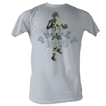Rocky T-Shirt Philly 1976 Silhouette Silver Tee