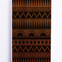 Aztec On Wood for Iphone 5C Hard Cover Plastic