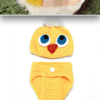 CCA83 Duck Knit Outfit Set Last Call (perfect for Easter)