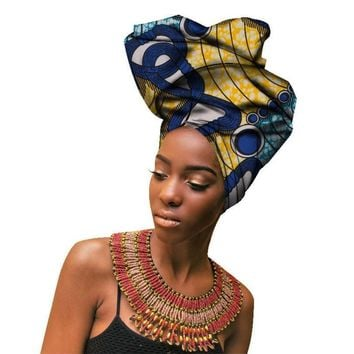 Haimeikang African Headwraps For Women Head Scarf For Lady Retro Print Bandanas Women Turban Headband Headwraps Accessories