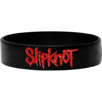 Slipknot Men's Logo Rubber Bracelet Black