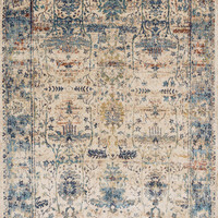 "Anastasia Sand / Light Blue 3'7"" X 5'7"" Rug"