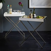 Tall Butler Tray Stand