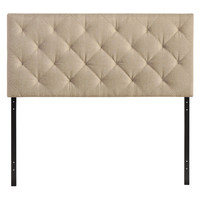Theodore Full Fabric Headboard Beige