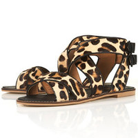 FIESTY Mix Leopard Sandals - Sale  - Sale & Offers