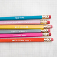 days of summer pencil set