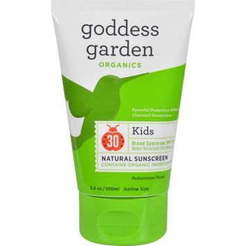 Goddess Garden Sunscreen - Organic - Sunny Kids - SPF 30 - 3.4 fl oz