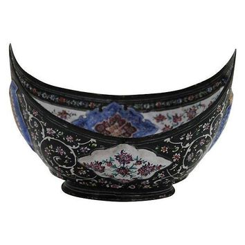 Pre-owned Persian Enamel Bowl