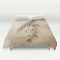Bohemian Feather Duvet Cover by LouJah | Society6