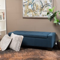Legacy Tufted Top Fabric Storage Ottoman