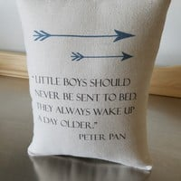 Peter Pan decor throw pillow baby boy gift pillows