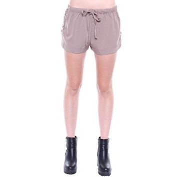 Contemporary Khaki Drawstring Lace Up Shorts P9679
