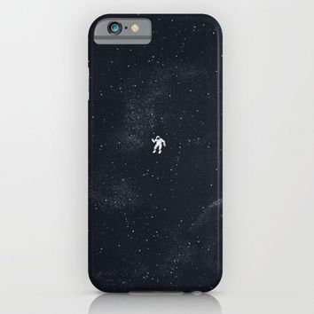 Gravity - Dark Blue iPhone & iPod Case by Tobe Fonseca