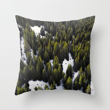 Winter Forest Throw Pillow by ARTPICS