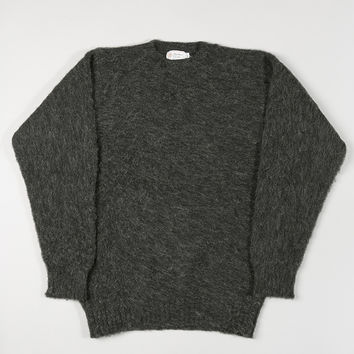 Shetland Woollen Co Crewneck Jumper Charcoal